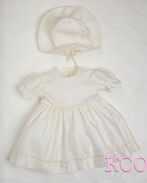Braid Dress Ivory ~ girls dress